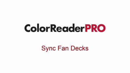 Sync Fan Decks - Datacolor ColorReader