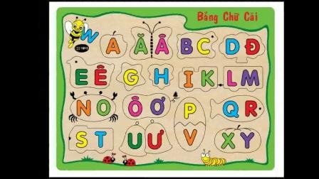 越南语学习第一步,29个字母发音,越南语字母儿歌学习