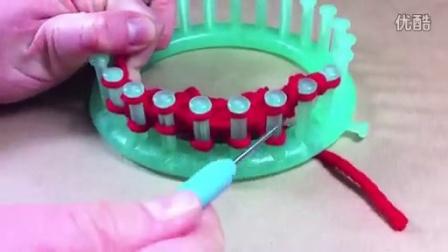 圆形14厘米 编织心形玩偶