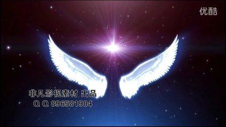 新娘天使大翅膀高清动态LED背景下载,婚礼背景翅膀LED素材