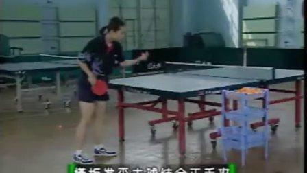 乒乓球  发平击正手攻