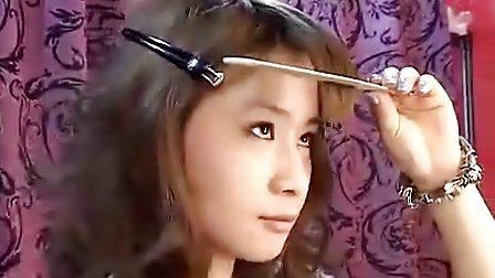 理发剪刀剪刘海教程视频