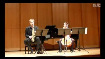法国萨克斯演奏家菲斯巴赫: 俄现代派Denisov《萨克斯与大提琴奏鸣曲》III
