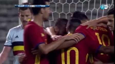【热身赛】莫拉塔伤退席尔瓦两球 西班牙2-0比利时,亨利助教