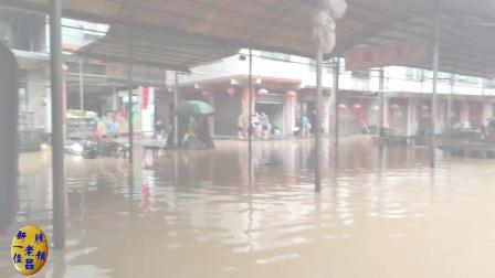 永州宁远清水桥百年不遇的洪水 2017年7月2日