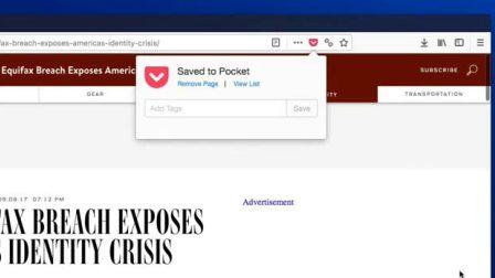 全新的Firefox Quantum:内置Pocket
