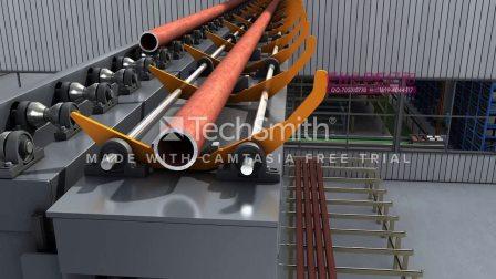 自动化加工生产线机械三维仿真动画