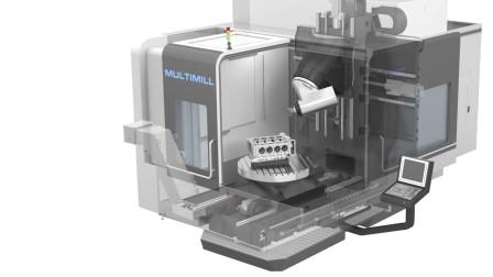 德国EDEL MultiMill 1000 五轴 铣车复合加工视频