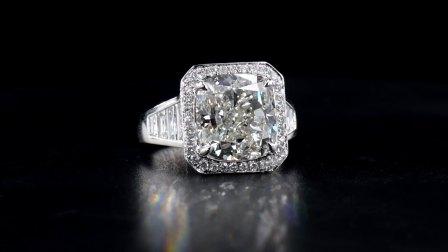 #JCRW05389902# 8.46克拉 白钻戒指