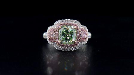 #JCRF05389292# 3.53克拉 绿钻戒指