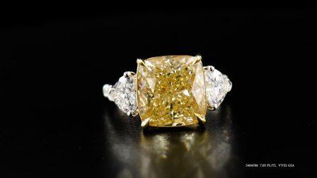 #JCRF05404596# 7.05克拉黄钻戒指