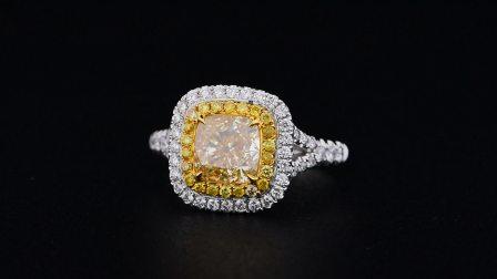 #JCRF05403848# 1.54克拉 黄钻戒指