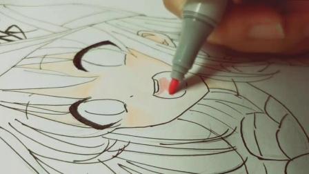 【Amy】手绘血小板过程(临摹)(马克笔手绘)(工作细胞 血小板)(借题偶像活动自制食玩)