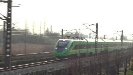 【复兴号CR200J绿动集】55168次动力集中动车组列车(Z9/10接班车)沪昆线试运营