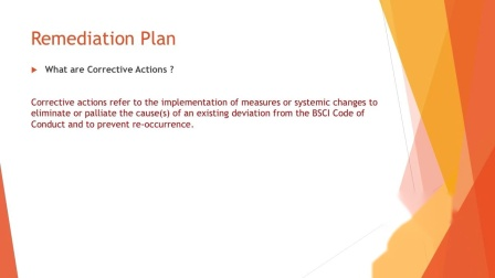 Remediation plan for producers re-up