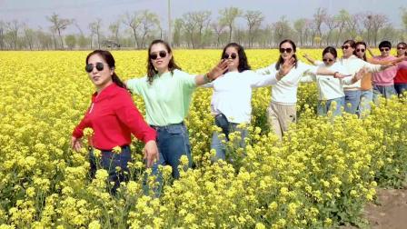 黄骅云在飞舞蹈队赴中捷观赏【油菜花】