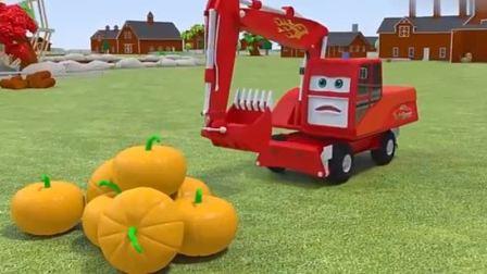 汽车玩具:挖掘机偷南瓜被抓.avi