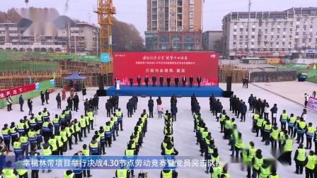 幸福林带项目举行决战4.30节点劳动竞赛暨党员突击队授旗仪式