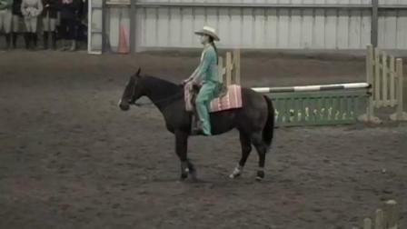 帅气的女孩!温顺的马儿!