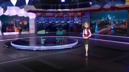 vMix专用虚拟集 演播室场景科技感产品宣传展示介绍主持人抠像背景四镜头