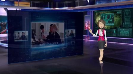 vMix专用虚拟集 演播室场景直播间科技感产品宣传展示介绍抠像背景四镜头