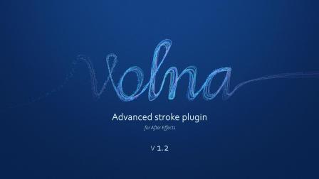中文汉化AE插件-动态线条路径描边绘制生长动画 Volna v1.3.2