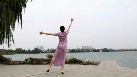 【任如意如意舞】傣族舞风《水月亮》背面演示
