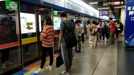【广州地铁2号线】广州地铁2号线A4型电客车(02x011-012)广州火车站下行进站