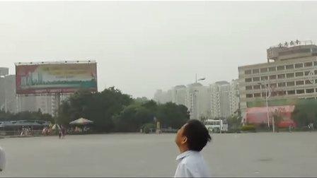 桂林市甲天下广场歼11表演