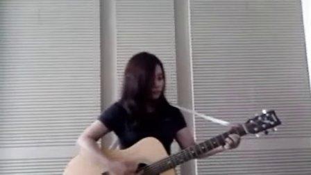 YUI cover Rolling star guitar 46takarai