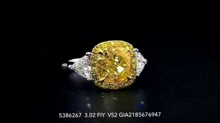 #JCRF05386267# 3.92克拉黄钻戒指