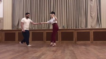 Sharon and Josh - Swingout Footwork