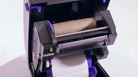 普印力自动识别 T800 - RFID桌上型打印机安装碳带及耗材操作