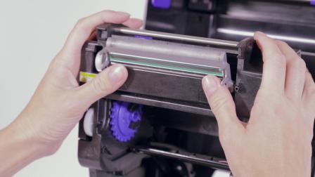 普印力自动识别 T800 - RFID桌上型打印机更换打印头及滚动条