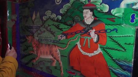 圣地圣法圣迹—萨迦寺(下)壁画:印人牵象+蒙人驯虎;大寮