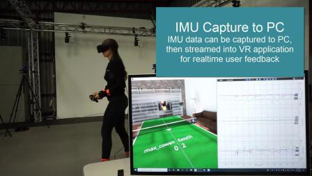 Using Vicon to add quantitative measurements to Virtual Reality research