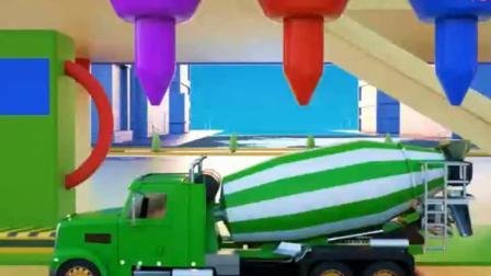 汽车玩具:搅拌车 推土机和拖拉机一起修建羊圈.avi