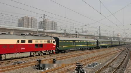 20201226_133142 西局西段DF4D-0560牵引7001次(西安-韩城)进咸阳站4道停车