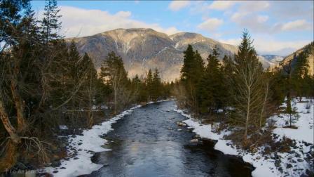 加拿大冬季迷人的自然奇观