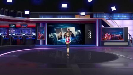 vMix专用虚拟集 演播室场景科技新闻播报产品宣传展示介绍抠像背景三机位
