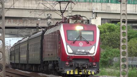 『2021.5.29萧甬铁路』【镜水路立交桥下】K212次 HXD1D0138