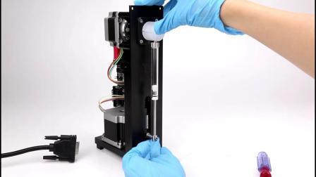 兰格工业注射泵SP1-CX阀及注射器安装过程