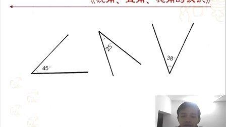 人教版四年级上册--《锐角、直角和钝角的认识》