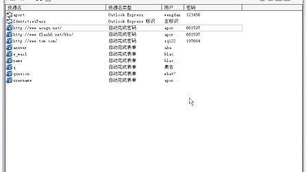 07  利用Protected Storage Passview查看系统中所有的密码信息