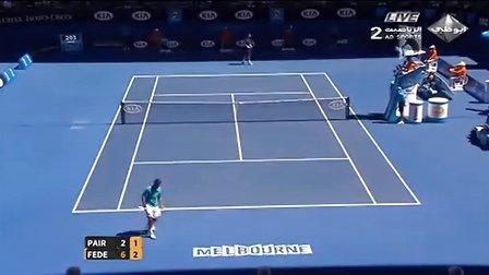费德勒2013澳网第一轮vs Paire比赛完整视频