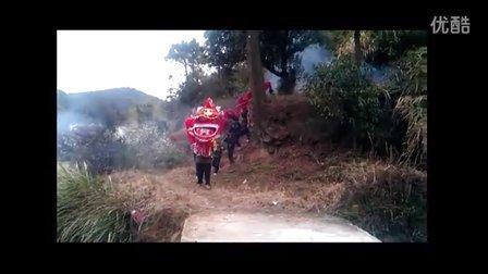 江西省上犹县社溪镇坳背村正月闹龙灯花絮