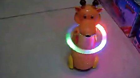 万向电动音乐七彩呼啦圈_长颈鹿 彩光音乐呼啦圈会旋转 玩具