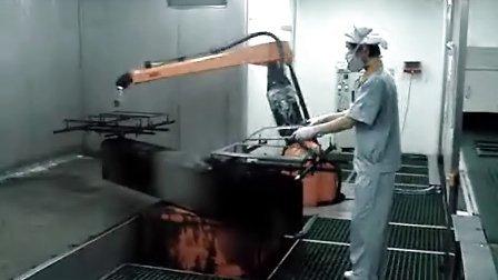 机器人喷涂电视机外框