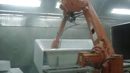 机器人喷涂洁具
