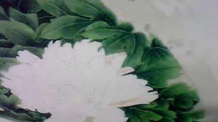 """沙力绢画【""""浅色牡丹""""(步骤六):""""花瓣的分染①"""" 】13年3月20日"""